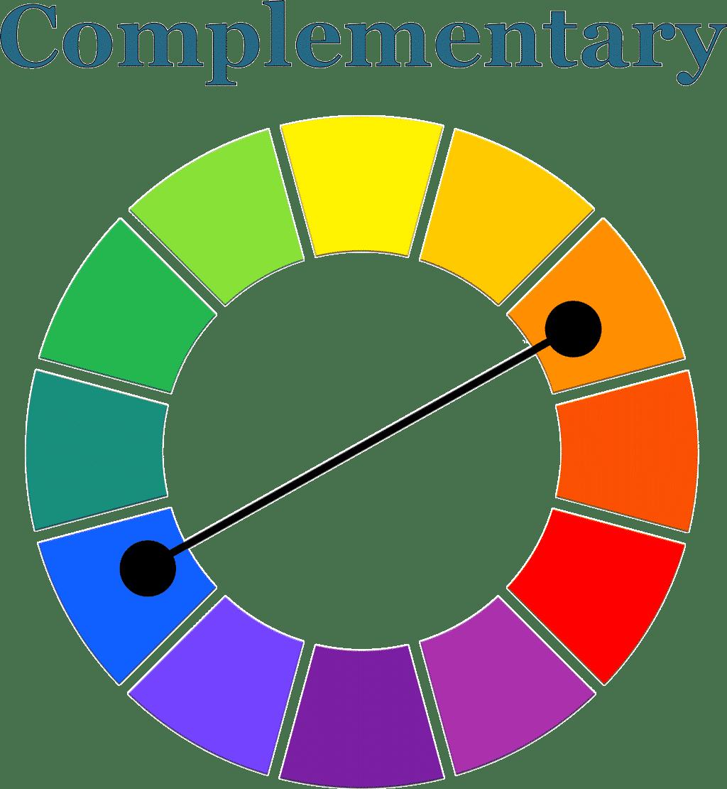 Orange + Blue complementary color scheme.